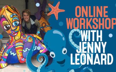 Octopus Ahoy! Free Online Workshop – Octopus Mark Making with Artist Jenny Leonard