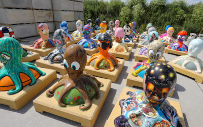 Auction To Bid Farewell to Octopus Ahoy! Sculptures